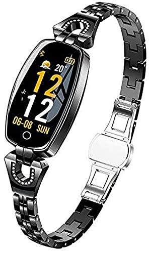 Smart Watch Kvinnor Vattentät och dammsäker för Android/IOS Activity Fitness Armband SmartWatch med 8 sportlägen, svart