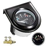HOTEU Kit de jauge de température de l'eau pour voiture Noir LED Universel Manomètre de température de l'eau de voiture Cadrans de 101,6 à 120°