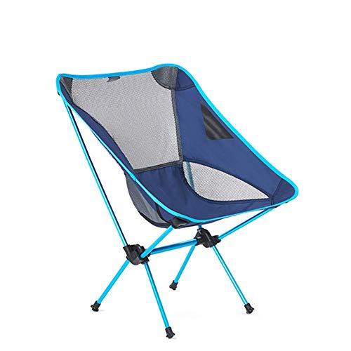 Unknow Silla al Aire Libre Transpirable para Picnic, Silla de Camping portátil con Bolsa de Transporte, Silla Plegable compacta y Ligera
