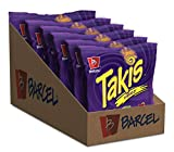 Barcel Takis - Crunchy Rolled Tortilla Chips – Fuego Flavor (Hot Chili Pepper & Lime), Box with 6 Bags (4 oz each)