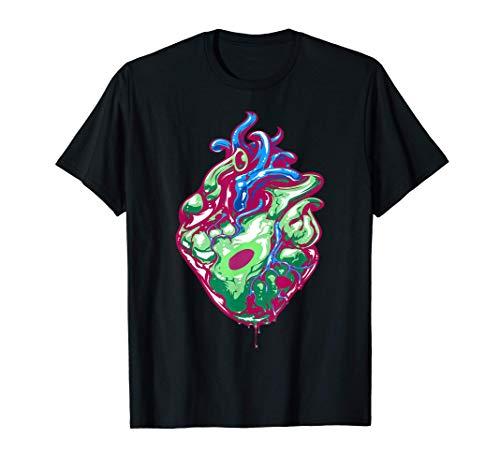 Anatomía del corazón humano vegano - Tee del mes del corazón Camiseta