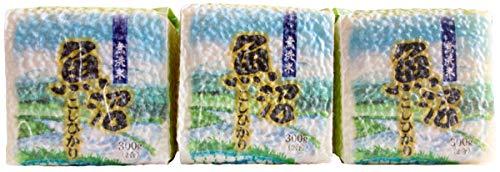 【精米】魚沼産 無洗米 コシヒカリ 300g×3袋 令和元年産【真空キューブ】