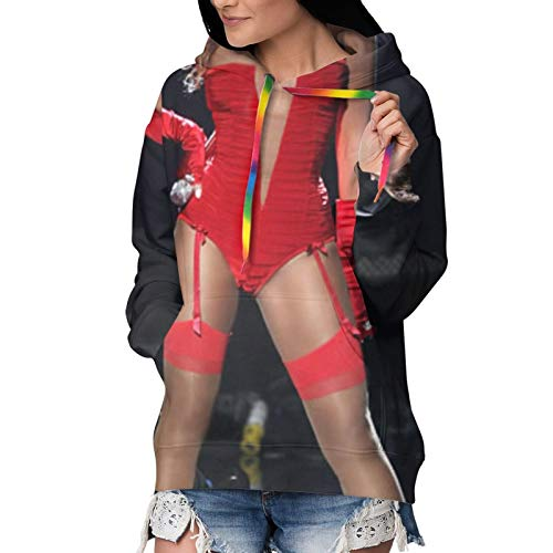 Nsafinhwv Beyonc-é - Sudadera con capucha para mujer, diseño de Navidad y Halloween, color negro