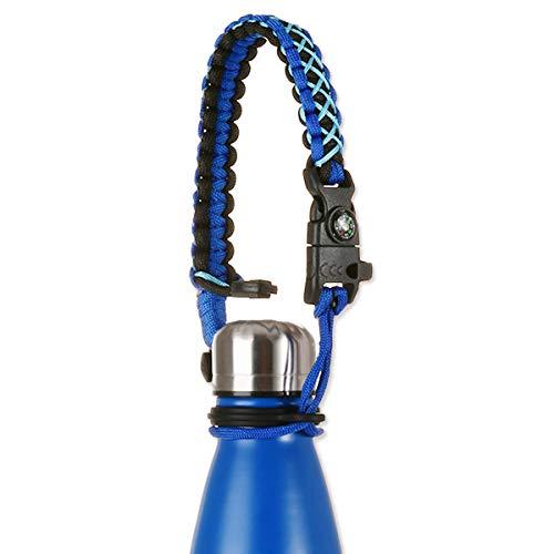 LeaSeek Paracord flessenhandvat is compatibel met Swell, MIRA, Simpel Modern flessen en andere colavormige waterfleshouder van roestvrij staal | houder - voor 350 ml - 1000 ml
