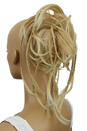 PRETTYSHOP Hairpiece Hair Rubber Scrunchie Scrunchy Updos VOLUMINOUS Wavy Messy Bun lightblond # 27T613A G5D