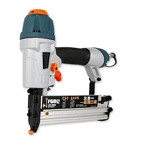 3-en-1 pistola neumático del clavo, F15-F50 / T-clavo de la forma de la herramienta T20-T50 / 13-40Mm carpintería Clavadora Grapadora aire Clavado