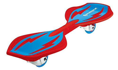Razor RipStik Brights 2 Wheel Twisting 360 Degree Caster Board with Removable Deck Plates and Slip Resistant Deck, Red and Blue
