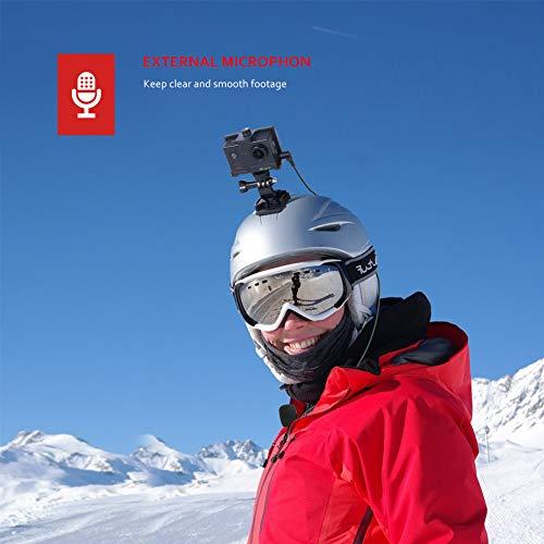 Victure Action Cam 4K 16MP Kamera 40M Wasserdichte Unterwasserkamera Digitale WiFi actioncam mit EIS Sensor, 2.4G Fernbedienung, externem Mikrofon und Montage Zubehör Kit - 4