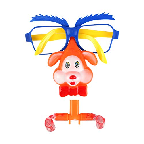BESTOYARD Gafas de Disfraz de Fiesta con Matasuegras Juguetes ruidosos para Niños (Patrón Aleatorio)