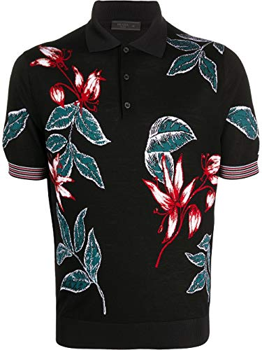 Prada Luxury Fashion Herren UMB005S2011S1RF0002 Schwarz Wolle Poloshirt | Frühling Sommer 20