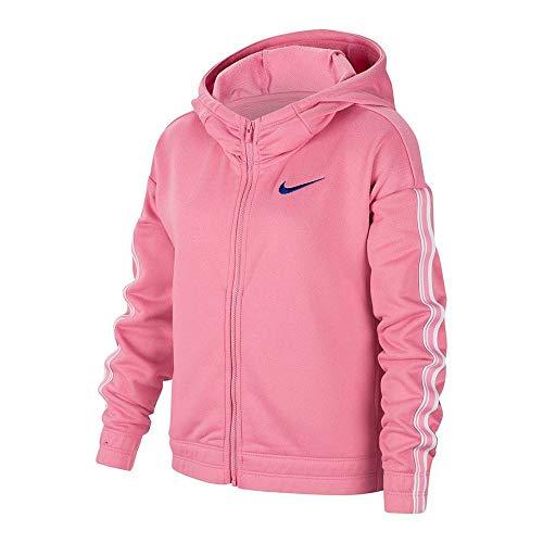 Nike Mädchen G NK HOODIE FZ STUDIO Sweatshirt,Rosa (Magic Flamingo/White/(Hyper Blue)), XL