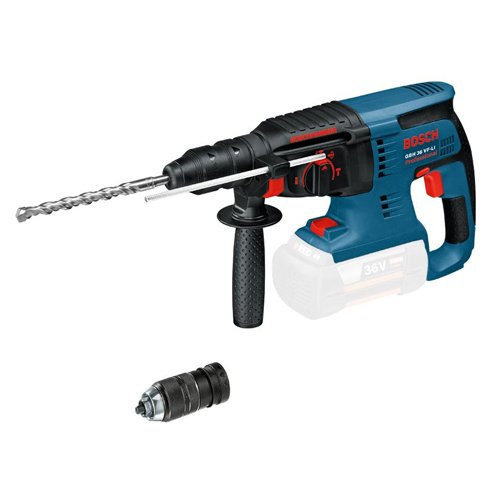 Bosch Professional Akku Bohrhammer GBH 36 V-LI Plus (mit SDS Plus Wechselbohrfutter, ohne Akkus und Ladegerät)