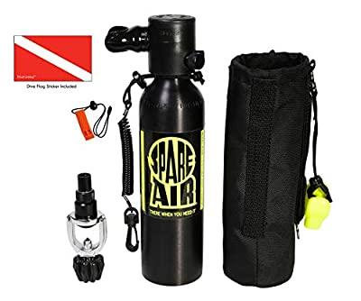 Submersible Systems Spare Air, 6.0 cu. ft. Package with DiveCatalog Safety Whistle