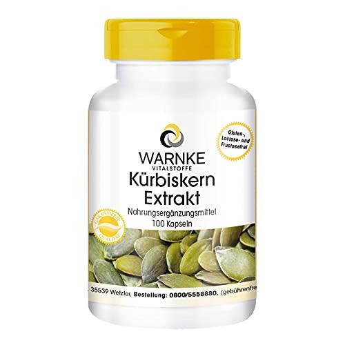 Estratto di semi di zucca 500mg - Con vitamina E e selenio - 100 capsule
