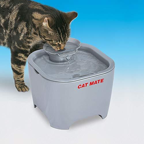 Cat Mate Shell Fountain 100 Fl Oz. (White) (Titanium)