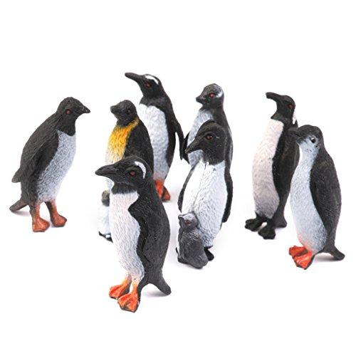 Figure animali modello pinguino giocattolo di plastica Set di 8pcs
