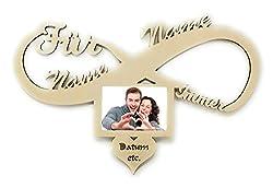 I Love You Liebesgeschenke Geschenk mit Name und Gruß Gravur Wand Foto Bilderrahmen Partner 10x15 cm Trauzeugin Trauzeuge Freundin Frau personalisiert