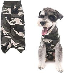 Tineer Traje de recuperación Perro, Protector de la Herida Abdominal Cachorro Chaleco del Animal doméstico después de la cirugía de Desgaste, E-Collar Alternativo para Gatos Perros (XL, Camouflage)