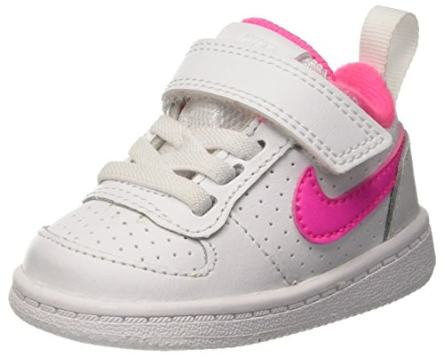 Nike Court Borough Low (TDV), Zapatillas de Baloncesto Unisex niño, Blanco (White/Pink Blast 100), 23.5 EU