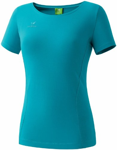 Erima Casual Basics T-Shirt Femme, Pétrole, FR : S-M (Taille Fabricant : 40)