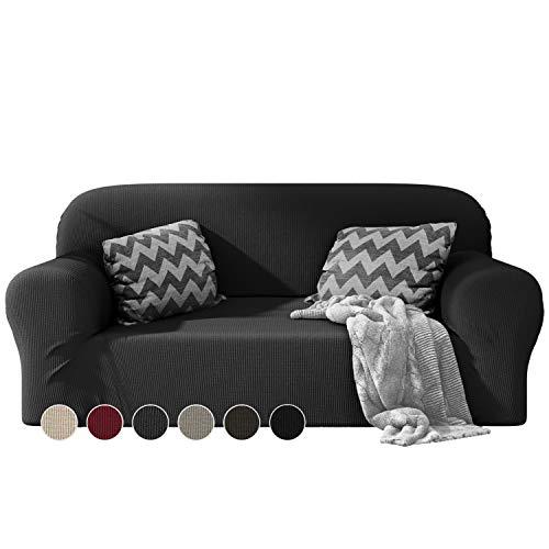 Dreamzie - Sofabezug 2 Sitzer Elastische - Grau - Oeko-TEX® - Sofa Überzug Dehnbarer aus Recycelter Baumwolle - Made in Europe
