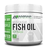 AMRAP Nutrition - Omega 3 Triglyceride Fish Oil Capsules - Sourced from Wild Caught Fish - Sustainably Harvested - Up to 300% Better Absorption - Cold Processed