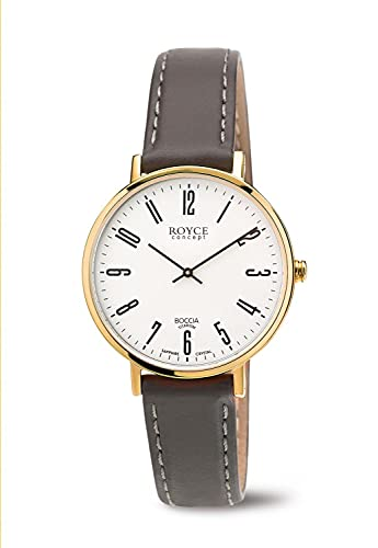 Boccia Damen Digital Quarz Uhr mit Leder Armband 3246-12