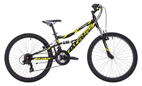 Atala Mountain Bike Storm VB 21V Nero-Opaco/Giallo-Fluo 24'