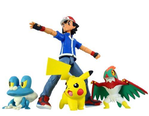 Pokemon Monster Collection Ash Ketchum & Pokemon Set Battle Scene