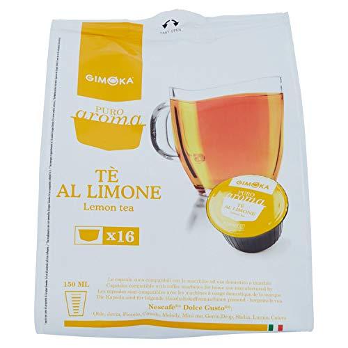 64 Capsule Gimoka Compatibili con Nescafé®* Dolce Gusto®* - 4 Confezioni da 16 Capsule - Tè al limone