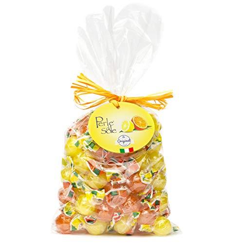 Perle di Sole Süßigkeiten Bonbons mit Orangen und Zitronen Geschmack 500g