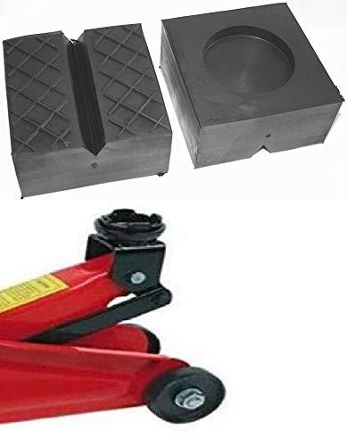 100x100x50mm mit V-Nut/Waffel/Aussparung Gummiauflage Gummi-Unterlage Auflage Wagen-Heber Hebebühne eckig Auto Klotz Rangier-Wagenheber Puffer Reifen Reifenwechsel LKW Räder KFZ Tuning Zubehör