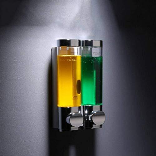 ZQCM Dispensador de jabón automático 250 Ml Dispensador de jabón líquido Ovalado Montaje en Pared Botella de jabón de Ducha para baño Baño Cocina