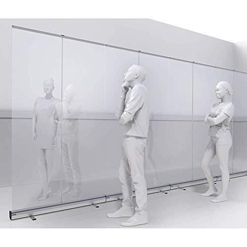 Piso de pie, estornudado, espesante, PVC Clear Película protectora de protección transparente PVC, pantalla de distanciamiento social utilizado en hoteles, gimnasios, restaurantes, oficinas, clínicas,