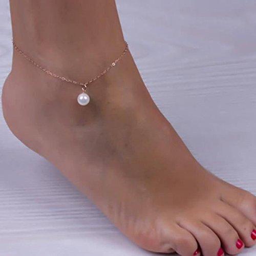 Primi Simple perla colgante tobillera