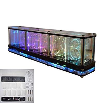 Pinhaijing Time Tube Glow Tube Quasi-Glow Tube Clock LED Digital Full Color RGB Night Light Bar Atmosphere Clock Home Decoration Gift