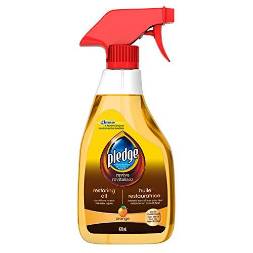 Pledge Restoring Oil Spray, Orange -Restore Sealed and Unsealed Wood Surfaces (1 Trigger Spray), 470ml