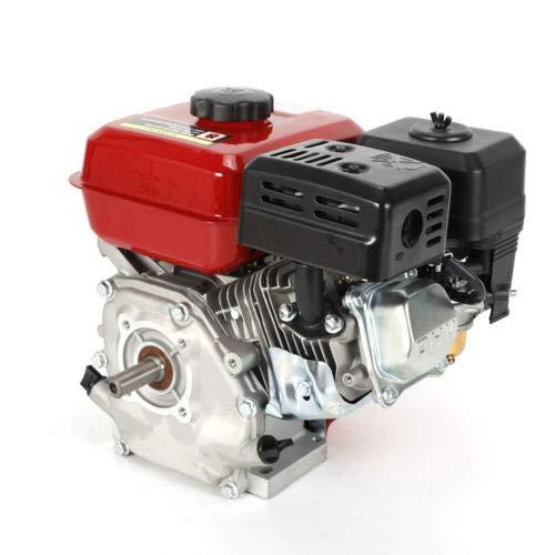 Benzinmotor - 7,5 PS 4-Takt 25 ° Einzylindermotor,Industriemotor,Kartmotor,Standmotor Austauschmotor (20 mm Ø Welle, Ölmangelsicherung, 1 Zylinder Benzinmotor, 4-Takt, luftgekühlt, Seilzugstart)