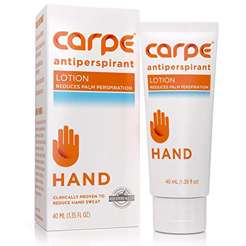 Carpe Antiperspirant Hand Lotion, A dermatologist-recommended, non-irritating, smooth lotion that helps stops hand sweat, Great for hyperhidrosis