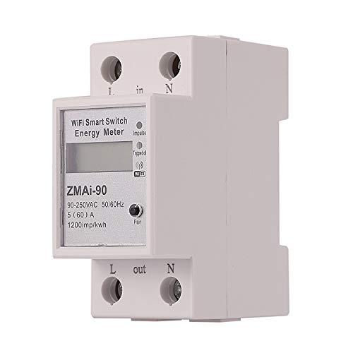 Fanuse Digital Anzeige Wifi Smart Meter Haushalt ein Phasen Schiene Typ Stromz?Hler 50Hz / 60Hz