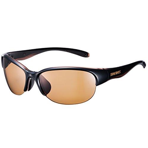 SWANS(スワンズ)スポーツ偏光サングラスルナ女性向けLN-0065BRBKブラック×クリアブラウン