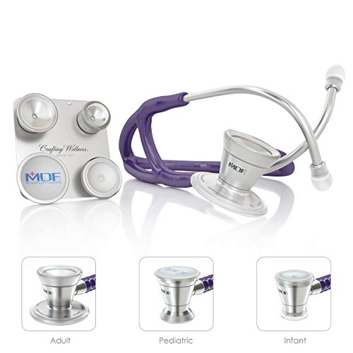MDF ProCardial C3 Cardiology Stainless Steel Dual Head Stethoscope with Adult, Pediatric, and Infant-Neonatal Convertible Chestpiece - Purple (MDF797CC08)