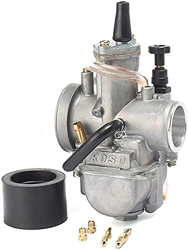 Tratamientos de carburadores 2T 4T Carburador universal de motocicleta Koso Carburador 28 30 32 34 mm con chorro de energía para el suministro de combustible de la motocicleta de carreras, piezas del