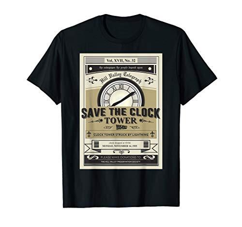 Hill Valley Telegraph Save The Clocktower T-shirt for Men or Women