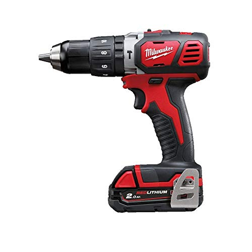 Milwaukee M18BPD-202B 18v Combi Drill with 2 x 2.0Ah Batteries, Charger, Bag