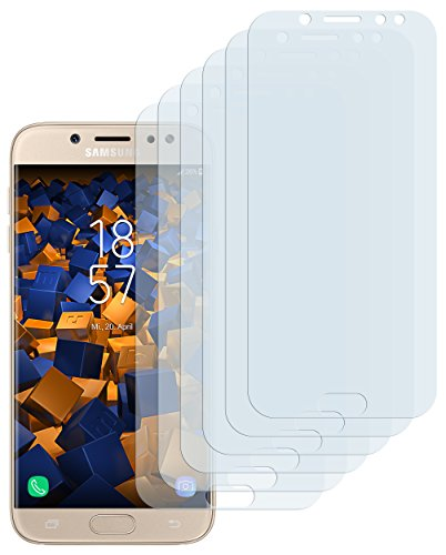 mumbi Schutzfolie kompatibel mit Samsung Galaxy J7 2017 Folie klar, Bildschirmschutzfolie (6X)