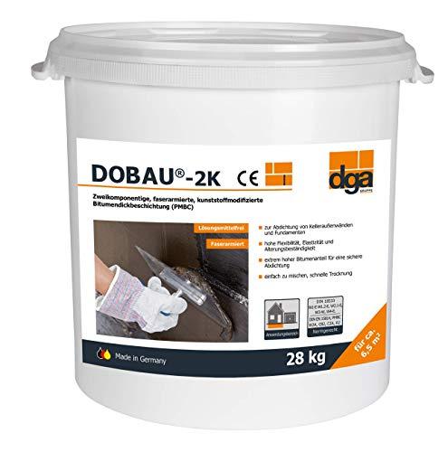 Dickbeschichtung Bitumen 2k Eimer 28 kg, Kellerdicht,Abdichtung, Bitumenanstrich - Hergestellt in Deutschland