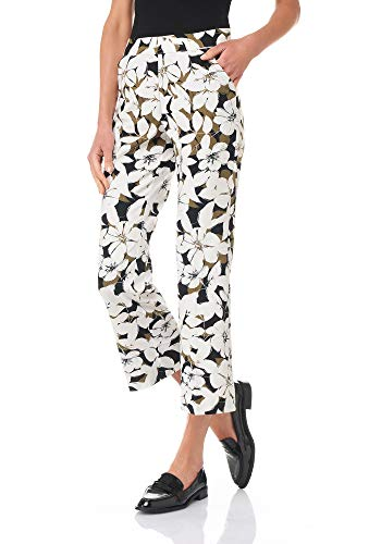 Goldenpoint Pantalone Donna Leggings Flare Fantasia Macro Fiori
