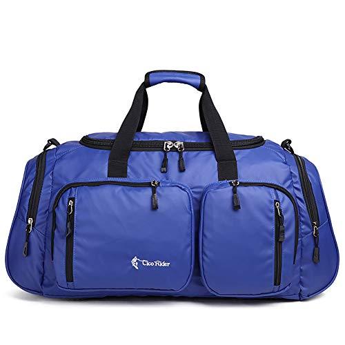 Sac de Voyage Sac de Sport en Toile Imperméable et Durable Carry on Duffle Bag Multifonction Nuit Week-End Homme Femmes Travel Bag & Duffel Bag,Blue