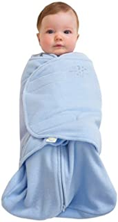 HALO SleepSack Micro-Fleece Swaddle, Baby Blue, Small